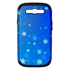 Blue Hot Pattern Blue Star Background Samsung Galaxy S Iii Hardshell Case (pc+silicone)