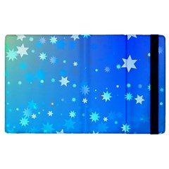 Blue Hot Pattern Blue Star Background Apple Ipad 2 Flip Case