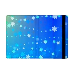 Blue Hot Pattern Blue Star Background Apple Ipad Mini Flip Case