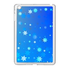 Blue Hot Pattern Blue Star Background Apple Ipad Mini Case (white)