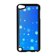 Blue Hot Pattern Blue Star Background Apple Ipod Touch 5 Case (black)