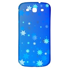 Blue Hot Pattern Blue Star Background Samsung Galaxy S3 S Iii Classic Hardshell Back Case
