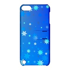 Blue Hot Pattern Blue Star Background Apple Ipod Touch 5 Hardshell Case With Stand