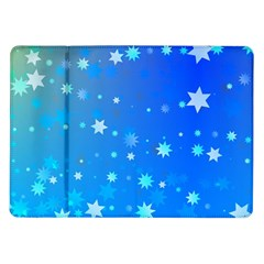 Blue Hot Pattern Blue Star Background Samsung Galaxy Tab 10 1  P7500 Flip Case