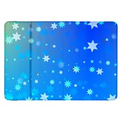 Blue Hot Pattern Blue Star Background Samsung Galaxy Tab 8.9  P7300 Flip Case