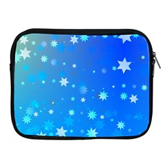 Blue Hot Pattern Blue Star Background Apple Ipad 2/3/4 Zipper Cases