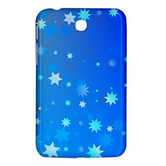 Blue Hot Pattern Blue Star Background Samsung Galaxy Tab 3 (7 ) P3200 Hardshell Case