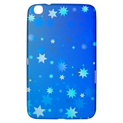 Blue Hot Pattern Blue Star Background Samsung Galaxy Tab 3 (8 ) T3100 Hardshell Case