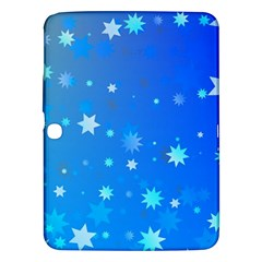 Blue Hot Pattern Blue Star Background Samsung Galaxy Tab 3 (10 1 ) P5200 Hardshell Case