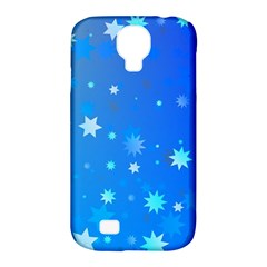 Blue Hot Pattern Blue Star Background Samsung Galaxy S4 Classic Hardshell Case (PC+Silicone)
