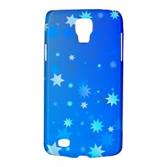 Blue Hot Pattern Blue Star Background Galaxy S4 Active