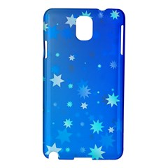 Blue Hot Pattern Blue Star Background Samsung Galaxy Note 3 N9005 Hardshell Case