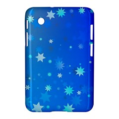 Blue Hot Pattern Blue Star Background Samsung Galaxy Tab 2 (7 ) P3100 Hardshell Case