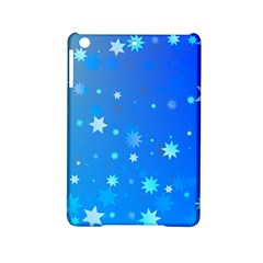 Blue Hot Pattern Blue Star Background Ipad Mini 2 Hardshell Cases
