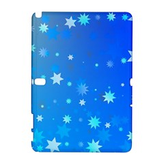 Blue Hot Pattern Blue Star Background Galaxy Note 1