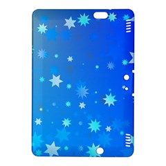 Blue Hot Pattern Blue Star Background Kindle Fire Hdx 8 9  Hardshell Case