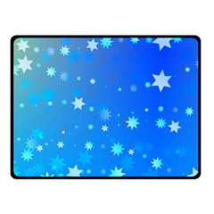Blue Hot Pattern Blue Star Background Double Sided Fleece Blanket (small)