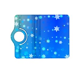 Blue Hot Pattern Blue Star Background Kindle Fire Hd (2013) Flip 360 Case