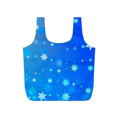 Blue Hot Pattern Blue Star Background Full Print Recycle Bags (s)