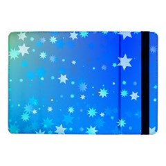 Blue Hot Pattern Blue Star Background Samsung Galaxy Tab Pro 10 1  Flip Case