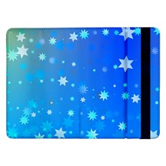 Blue Hot Pattern Blue Star Background Samsung Galaxy Tab Pro 12 2  Flip Case