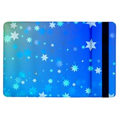Blue Hot Pattern Blue Star Background Ipad Air Flip