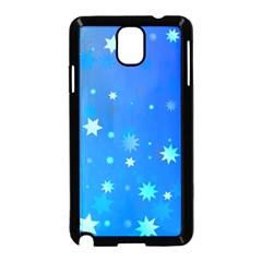 Blue Hot Pattern Blue Star Background Samsung Galaxy Note 3 Neo Hardshell Case (black)