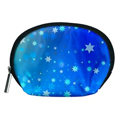 Blue Hot Pattern Blue Star Background Accessory Pouches (medium)