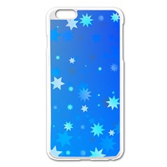 Blue Hot Pattern Blue Star Background Apple Iphone 6 Plus/6s Plus Enamel White Case