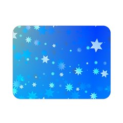 Blue Hot Pattern Blue Star Background Double Sided Flano Blanket (mini)