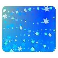 Blue Hot Pattern Blue Star Background Double Sided Flano Blanket (small)