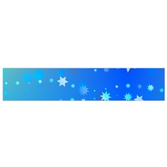 Blue Hot Pattern Blue Star Background Flano Scarf (small)