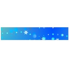 Blue Hot Pattern Blue Star Background Flano Scarf (large)