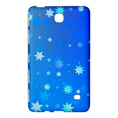 Blue Hot Pattern Blue Star Background Samsung Galaxy Tab 4 (7 ) Hardshell Case