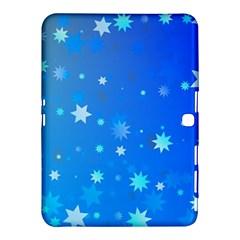 Blue Hot Pattern Blue Star Background Samsung Galaxy Tab 4 (10 1 ) Hardshell Case