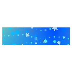 Blue Hot Pattern Blue Star Background Satin Scarf (Oblong)