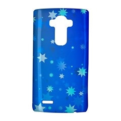 Blue Hot Pattern Blue Star Background LG G4 Hardshell Case