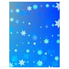 Blue Hot Pattern Blue Star Background Drawstring Bag (large)