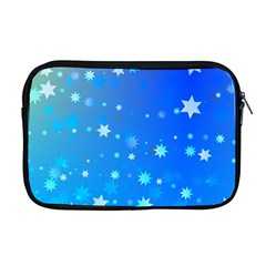 Blue Hot Pattern Blue Star Background Apple MacBook Pro 17  Zipper Case