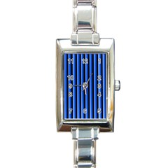 Blue Lines Background Rectangle Italian Charm Watch