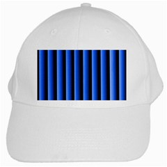Blue Lines Background White Cap