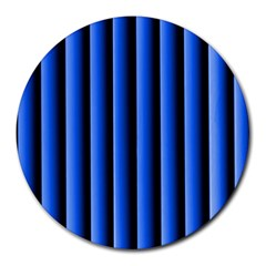 Blue Lines Background Round Mousepads
