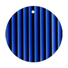 Blue Lines Background Ornament (round)