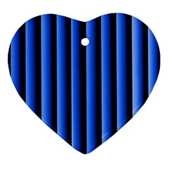 Blue Lines Background Ornament (Heart)