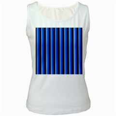 Blue Lines Background Women s White Tank Top