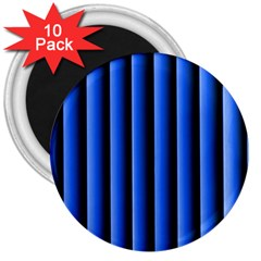 Blue Lines Background 3  Magnets (10 Pack)