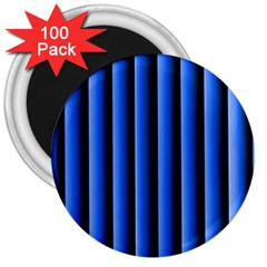 Blue Lines Background 3  Magnets (100 Pack)