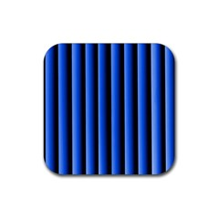 Blue Lines Background Rubber Square Coaster (4 Pack)