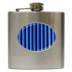 Blue Lines Background Hip Flask (6 oz)