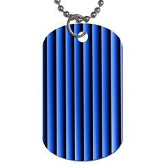 Blue Lines Background Dog Tag (Two Sides)